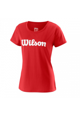 Camiseta Wilson W UWII SCRIPT TECH TEE red