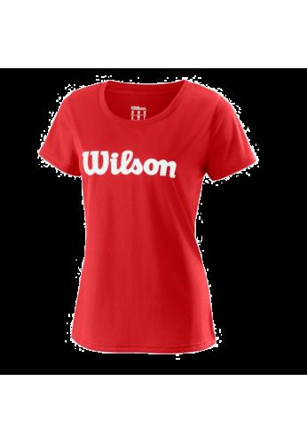 Camiseta Wilson W UWII SCRIPT TECH TEE red
