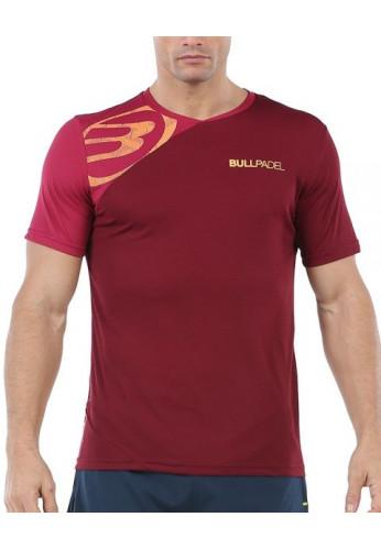 Camiseta Bullpadel CHAMOIS Vino Burdeos