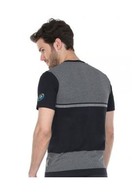 Camiseta Bullpadel REZMON Gris Oscuro Tej. Bicolor