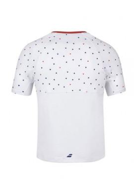 Camiseta Babolat COMPETE CREW NECK TEE MEN White/Pureed Pumpkin