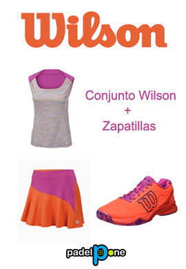 Zapatillas Wilson KAOS CLAY COURT W Fiery Coral/Fiery Red/Rose Violet + conjunto