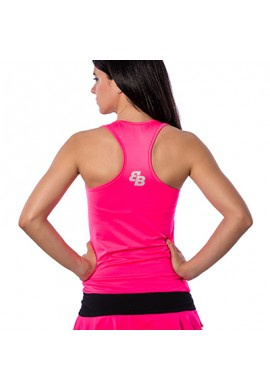 Camiseta BB Básica Rosa Fluor