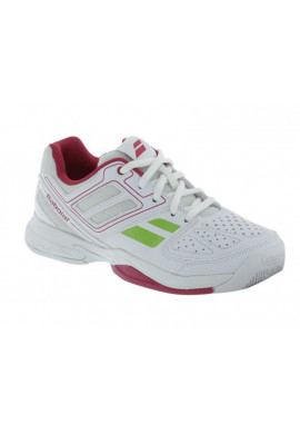 Zapatillas Babolat PULSION BPM JR banco y rosa