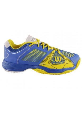 Zapatillas Wilson RUSH NGX CLAY azul y amarilla